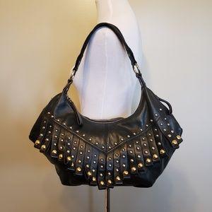 B. Makowsky | Large leather hobo bag
